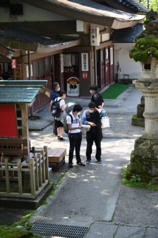 上市町での調査風景